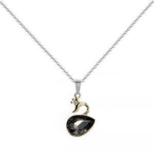 Jewelry - { BLAIR} Black Rhinestone Swan Necklace